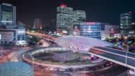 T/L WS HA Downtown Traffic at Night / Shanghai, China