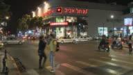 WS Downtown traffic at night / Tel Aviv, Dan metropolitan, Israel