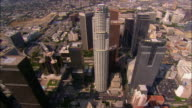 AERIAL, downtown, US Bank Tower, Los Angeles California, USA