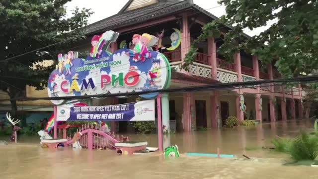 Dozens have died after Typhoon Damrey slammed into central Vietnam as heavy flooding casts doubt on a planned retreat for APEC leaders spouses to the...