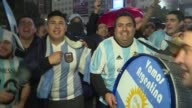 Dozens of Argentine fans gathered in Buenos Aires downtown to ask Lionel Messi to carry on in the national team