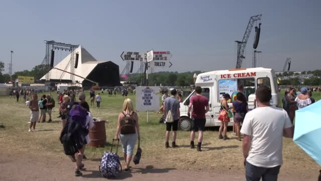 Dozens of people have been treated by paramedics on the hottest ever day of Glastonbury Festival Temperatures at the 900acre Somerset site reached...