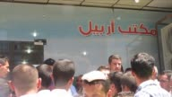 Dozens of people massed at Arbils airport in a desperate bid to board flights to Baghdad after a militant offensive in north Iraq wrenched vast...