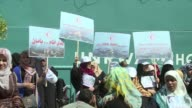 Dozens of women gathered in front of the headquarters of the UN agency for Palestinian refugees in Gaza on Wednesday to urge reconstruction months...