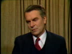 CMS Dr David Owen MP interview SOF 'The world's lost valued friend' VIDEO ex BBC/ENG TX1386/946pmFX ARCHIVE