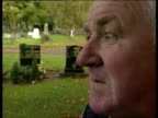 murder allegations reactions ITN Cemetery Eric McLoughlin along to tend his wife's grave and interview SOT Would not agree to have wife's body...