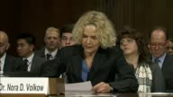 Dr Nora Volkow Director of the National Institute on Drug Abuse tells the Senate Judiciary Committee that in her view acute chronic pain leads to...