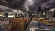 Dramatic Clouds Over Downtown Los Angeles - Timelapse