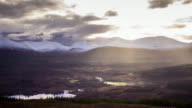 Dramatic Cloudscape Over the Great Glen, Scotland - Time Lapse