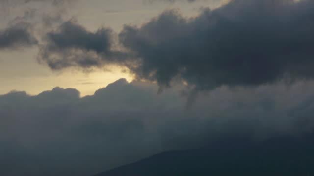 T/L Dramatic dark clouds engulf Mt. Katahdin, Baxter State Park, Maine Woods, Maine