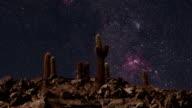 Dramatic Desert Night Sky