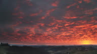 TIME-LAPSE IN HD: Incredibile tramonto nuvoloso