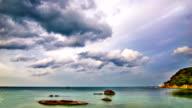 Dramatic sky on the sea