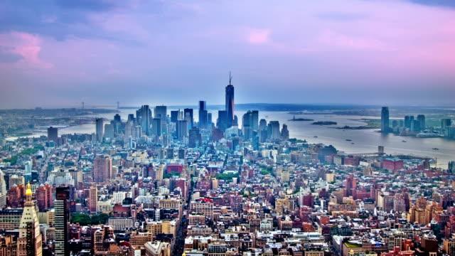 Dramatic sky over Manhattan