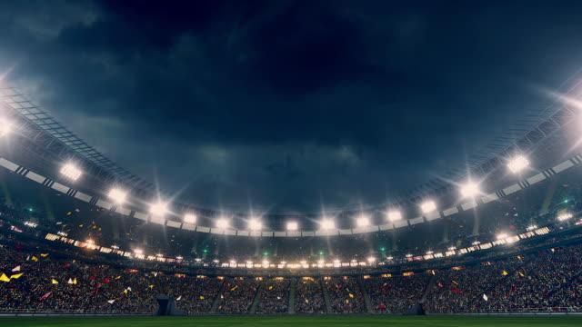 Dramatiska Stadion full av åskådare