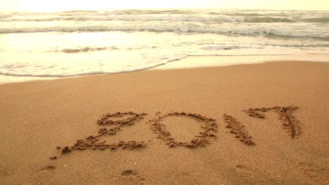2017 puttend uit het strand ultimo jaar tijd