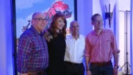 CHYRON DreamWorks Animation's Dinotrux Launch Event at Hollywood Athletic Club on August 12 2015 in Hollywood California