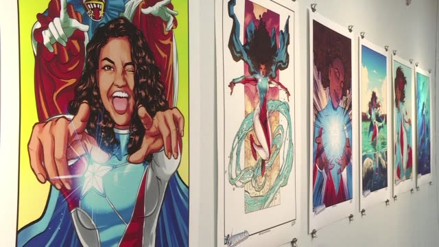 Dressed in her island's iconic flag a comic book superhero is flying to Puerto Rico's rescue after Hurricane Maria