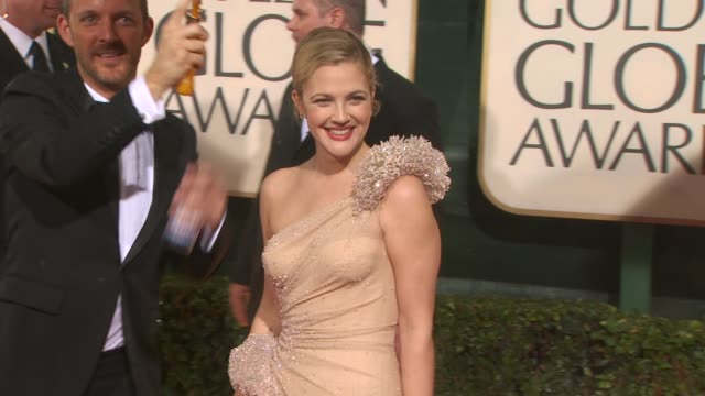Drew Barrymore at the 67th Annual Golden Globe Awards Arrivals Part 4 at Beverly Hills CA