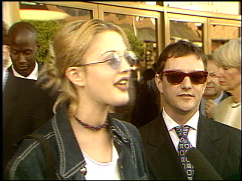Drew Barrymore at the 'Slive'r Premiere at the Bruin Theatre in Westwood California on May 19 1993