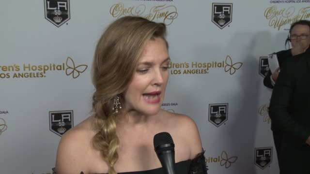 INTERVIEW Drew Barrymore on being honored at tonight's' gala at 2016 Children's Hospital Los Angeles 'Once Upon a Time' Gala in Los Angeles CA
