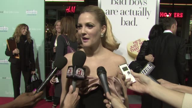 Drew Barrymore on her involvement in the film dating and rejection at the 'He's Just Not That Into You' Premiere at Los Angeles CA