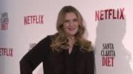 Drew Barrymore presents 'Santa Clarita Diet' Netflix serie accompanied by chef Ramon Freixa on January 19 2017 in Madrid Spain