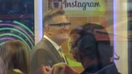 Drew Carey on the social set of the Good Morning America show in Celebrity Sightings in New York
