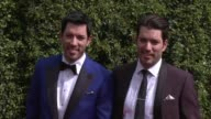 Drew Scott and Jonathan Scott at the 2015 Creative Arts Emmy Awards at Microsoft Theater on September 12 2015 in Los Angeles California