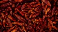 Getrocknete rotem chili. Küche-Kräuter Hintergrund