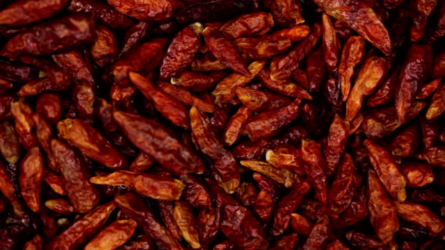 Dried red chili pepper. Kitchen herbs background