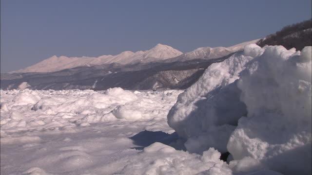 Drift ice in the Okhotsk sea