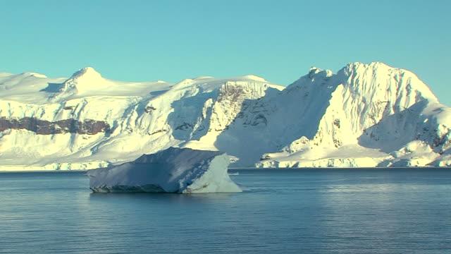 drifting iceberg in antarctica
