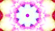 Drimlike psychedelischen Kaleidoskop Endlos wiederholbar Hintergrund video Filmmaterial in Neonfarben