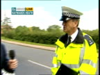 Metropolitan police launch summer campaign LIVE ENGLAND West Sussex Haywards Heath EXT Reporter to camera PC David Kirkcaldy interview SOT PC Graham...