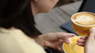 Drinking Cafe coffee