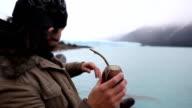 Drinking Mate Tea