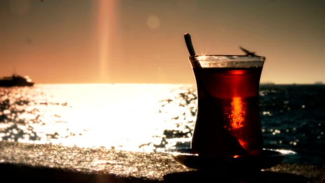 Drinking Tea at Sunset