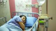 IV drip in hospital with patient