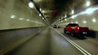 Drive along the tunnel