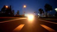 Drive at dusk,Rear View