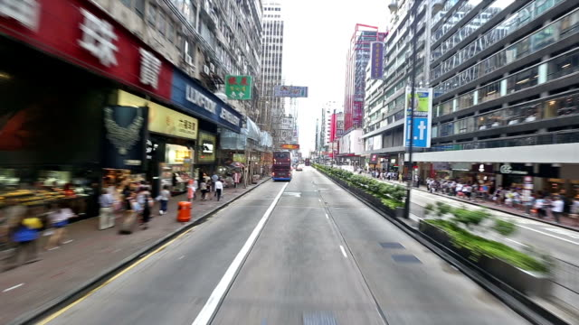 HD: Drive down a Kowloon district in Hong Kong