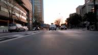 Drive in Yokohama at dusk,Rear View