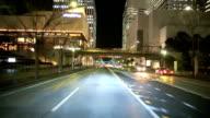 Drive in Yokohama night