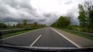 POV drive on highway A3, North Rhine-Westphalia, Germany