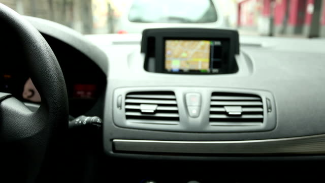 Drive with Navigation System, (Time Lapse)