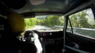HD: Driver Rallying Along Rally Course