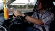 Fahrer Zeitraffer auf dem Weg