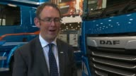 Driverless lorries to be trialled on UK motorways ENGLAND INT Paul Maynard MP interview SOT