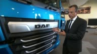 Driverless lorries to be trialled on UK motorways ENGLAND INT Ron Borsboom interview SOT